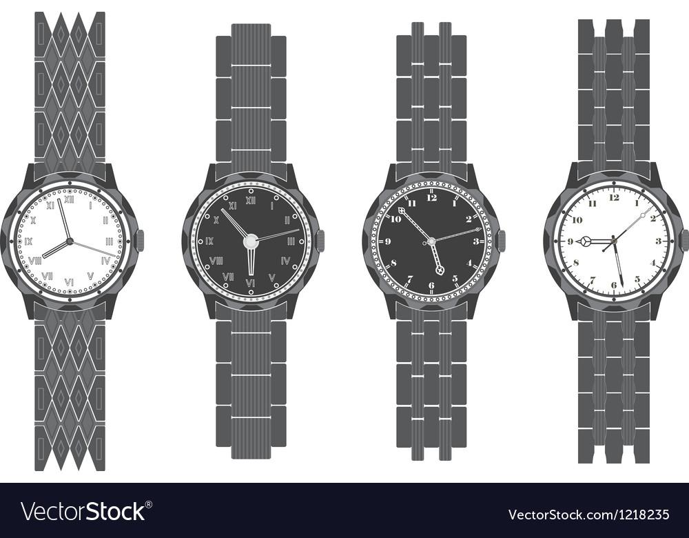 Set wristwatch with bracelet vector | Price: 1 Credit (USD $1)
