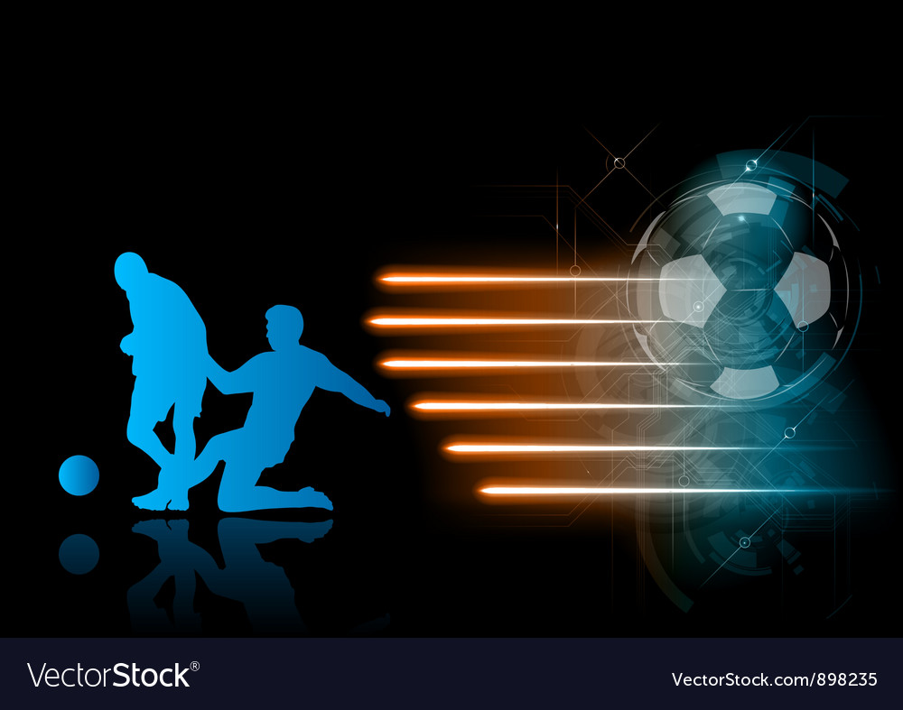 Soccer modern background blue vector | Price: 1 Credit (USD $1)