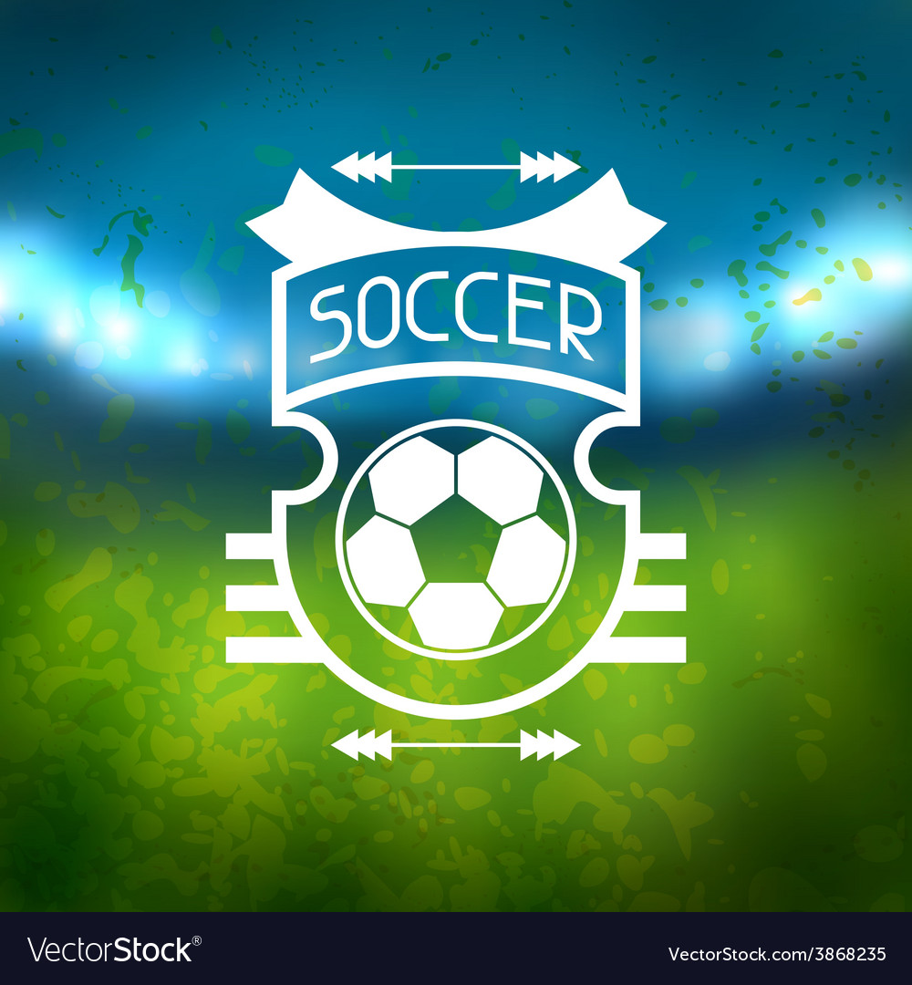 Sports label with soccer symbols vector | Price: 1 Credit (USD $1)