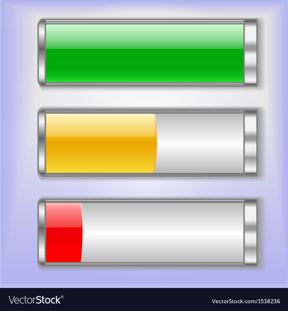 Battery charge status vector | Price: 3 Credit (USD $3)
