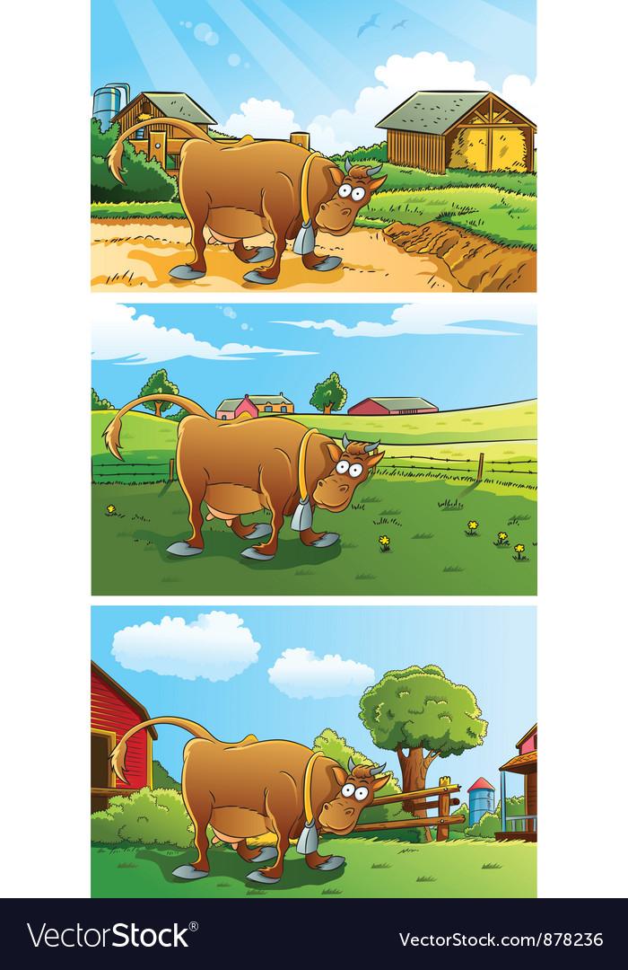Farm background vector | Price: 5 Credit (USD $5)