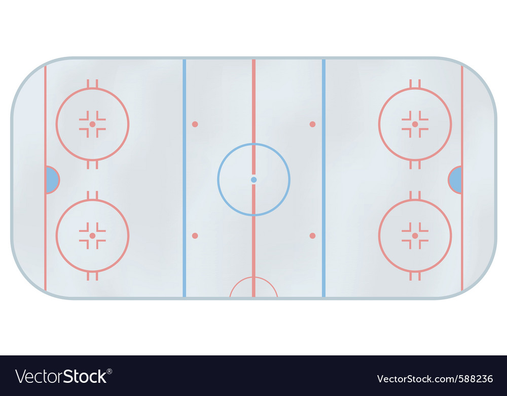 Ice hockey rink vector | Price: 1 Credit (USD $1)
