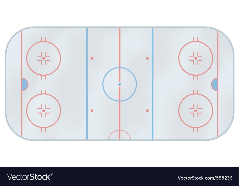 Ice hockey rink vector | Price: 1 Credit (USD $1)
