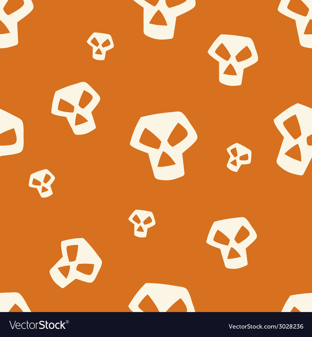 Orange skull pattern small vector | Price: 1 Credit (USD $1)