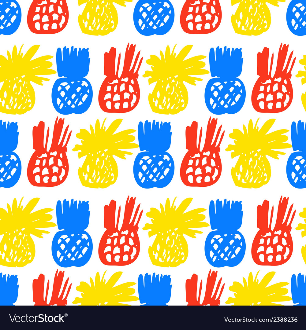 Pattern with pineapples vector | Price: 1 Credit (USD $1)