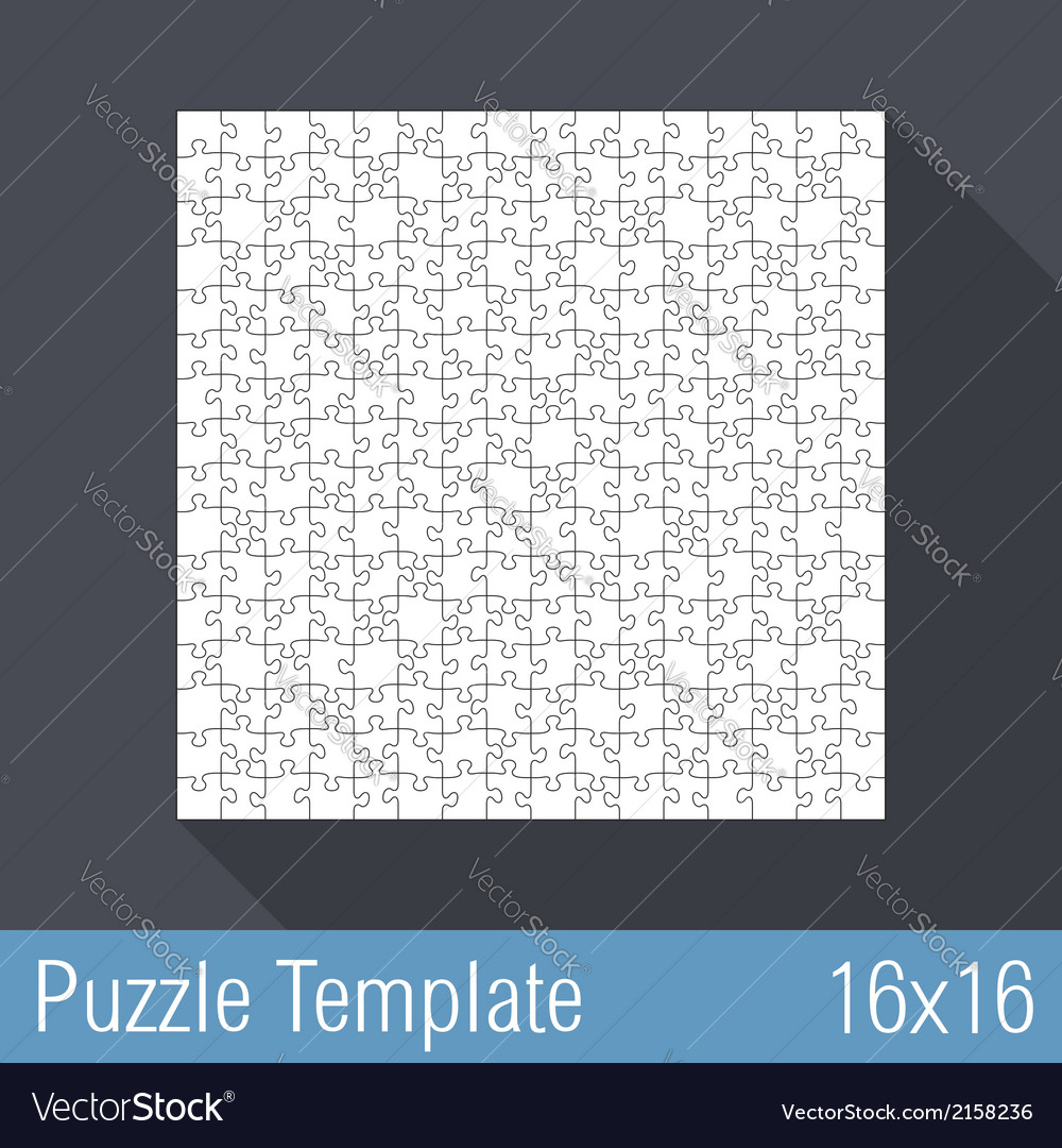 Puzzle template 16x16 vector | Price: 1 Credit (USD $1)