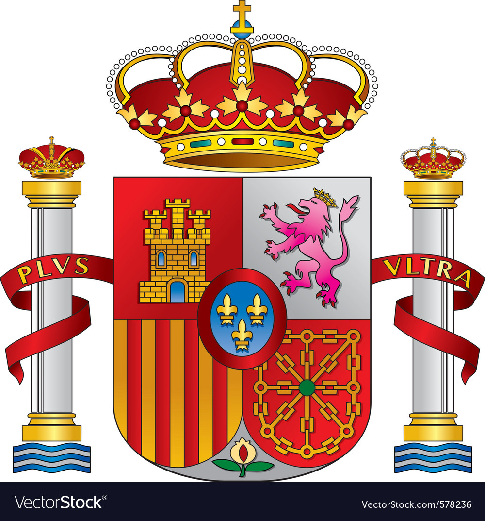 Spain royal emblem vector | Price: 1 Credit (USD $1)
