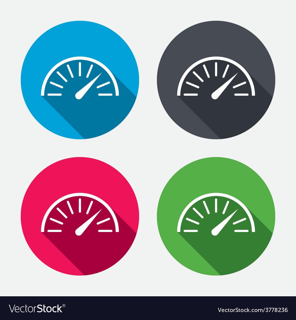 Tachometer sign icon revolution-counter symbol vector | Price: 1 Credit (USD $1)