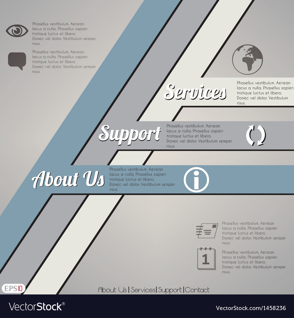 Web layout template vector   Price: 1 Credit (USD $1)