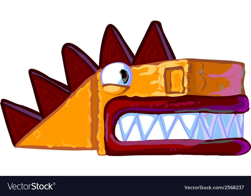 Cartoon dragon vector | Price: 1 Credit (USD $1)
