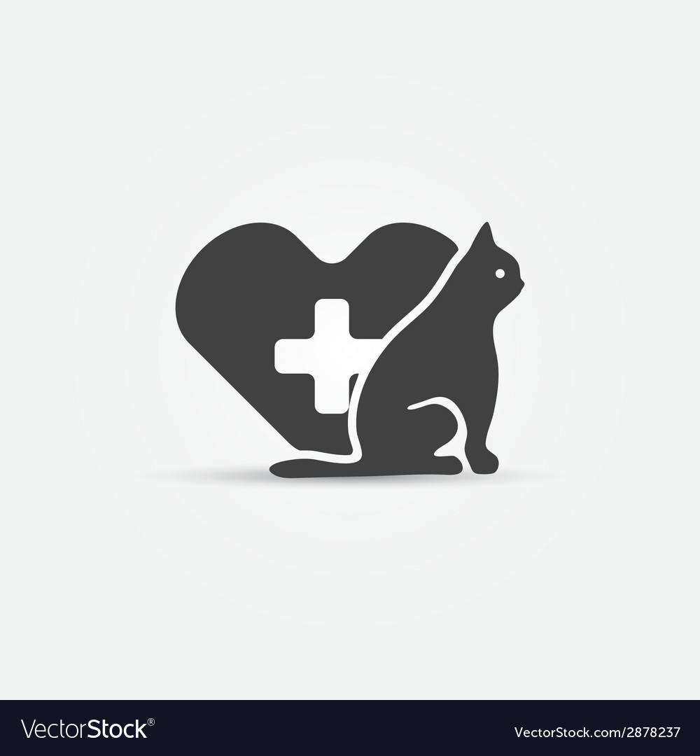 Cat vet icon vector | Price: 1 Credit (USD $1)