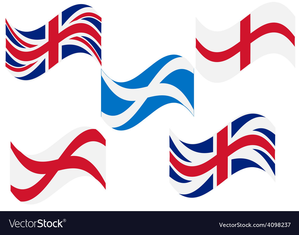 Flag england scotland vector | Price: 1 Credit (USD $1)