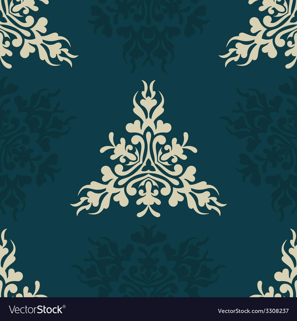 Heraldic seamless floral pattern vector | Price: 1 Credit (USD $1)