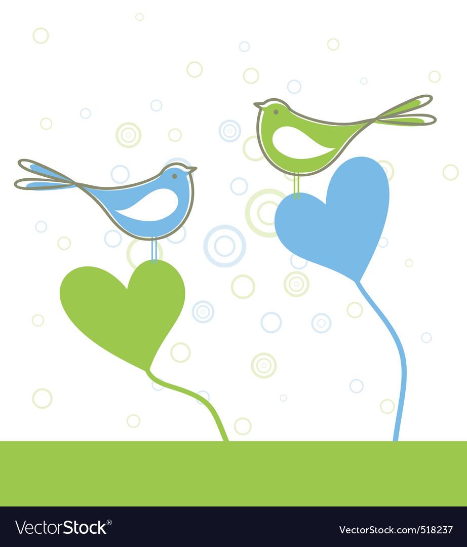 Love of birds vector | Price: 1 Credit (USD $1)