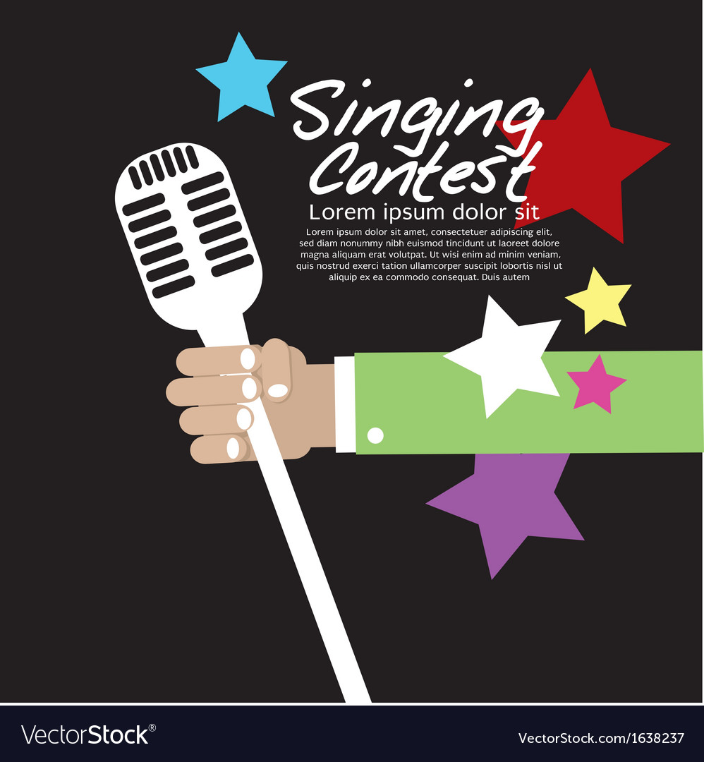 Singing contest vector | Price: 1 Credit (USD $1)