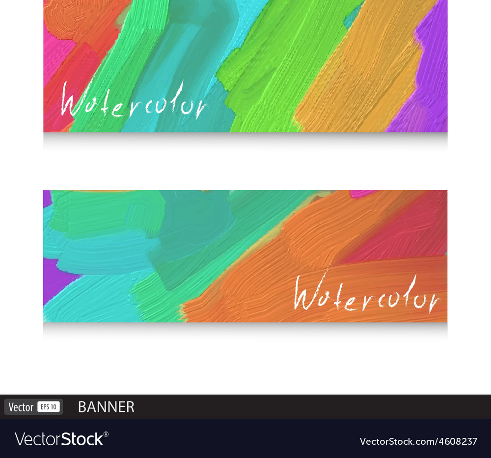 Watercolor design banners vector | Price: 1 Credit (USD $1)