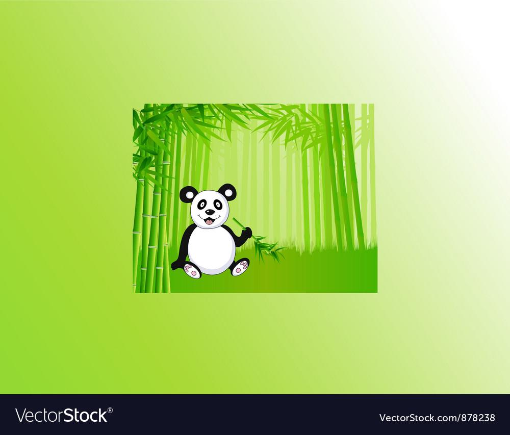 Bamboo and panda vector | Price: 1 Credit (USD $1)