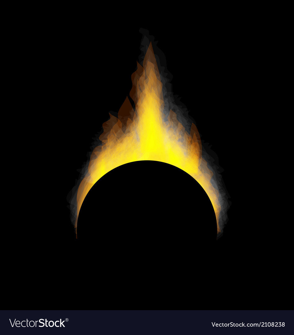 Burning fire flame on black background vector | Price: 1 Credit (USD $1)