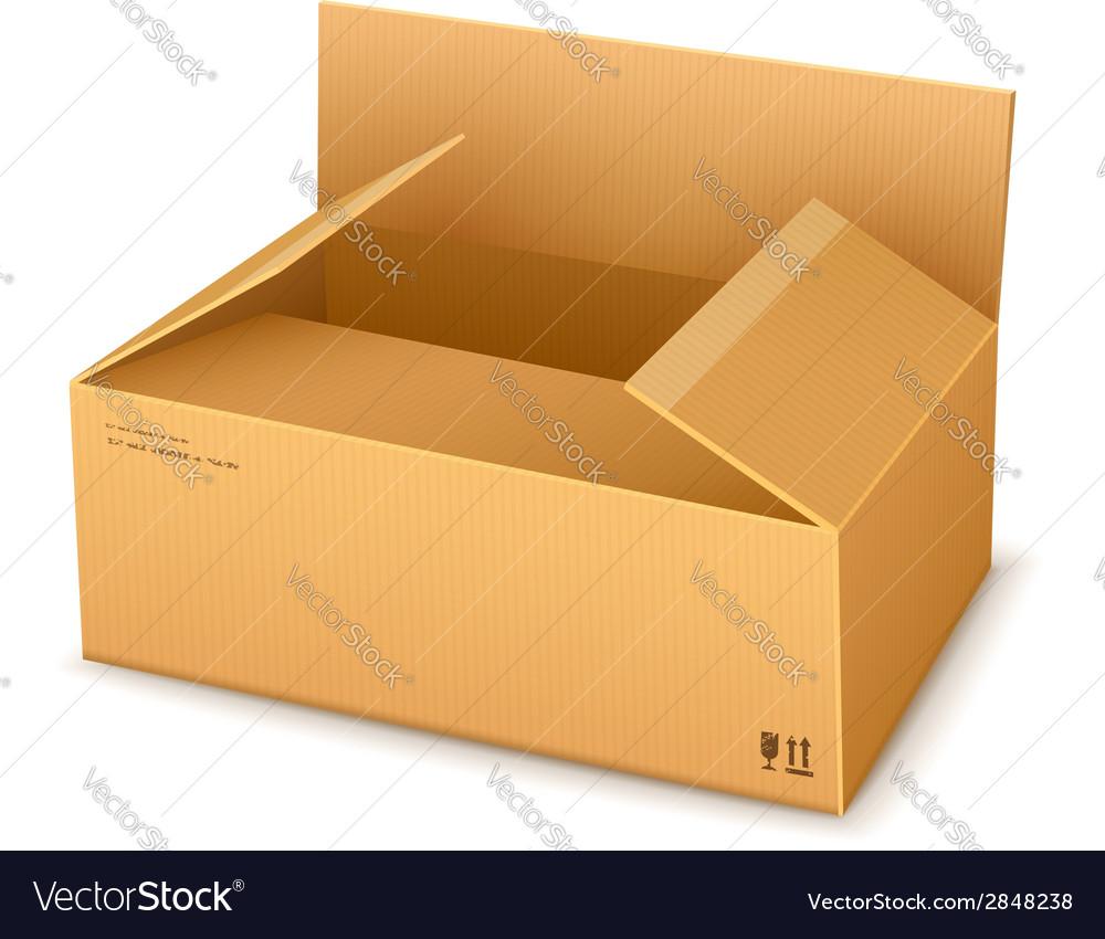 Cardboard packaging box vector | Price: 1 Credit (USD $1)