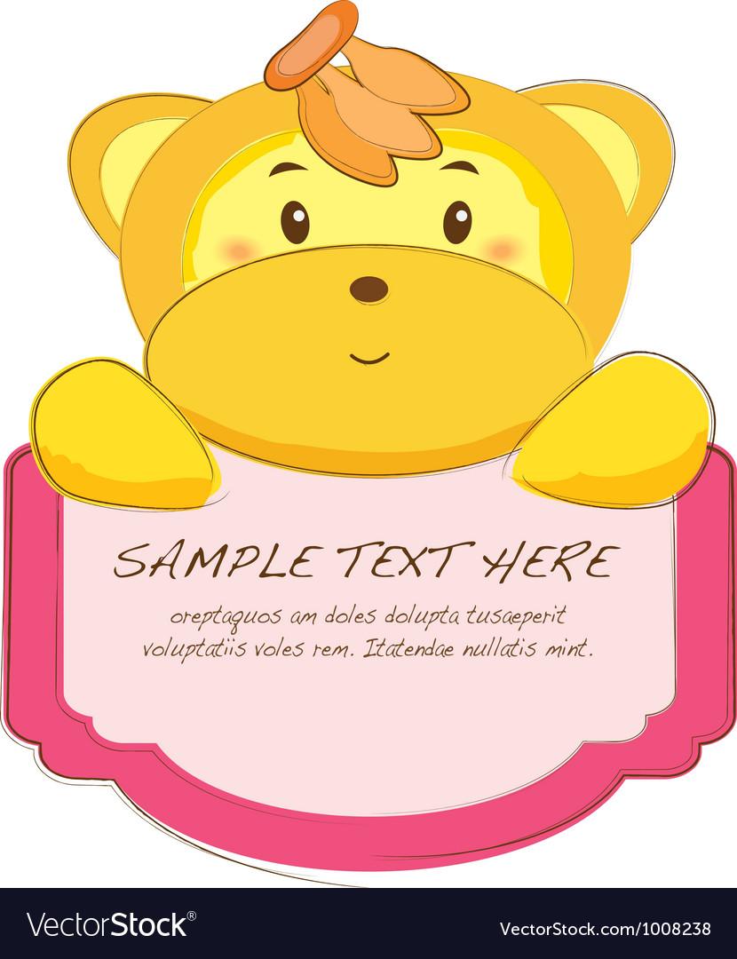 Cute animal tab vector   Price: 1 Credit (USD $1)