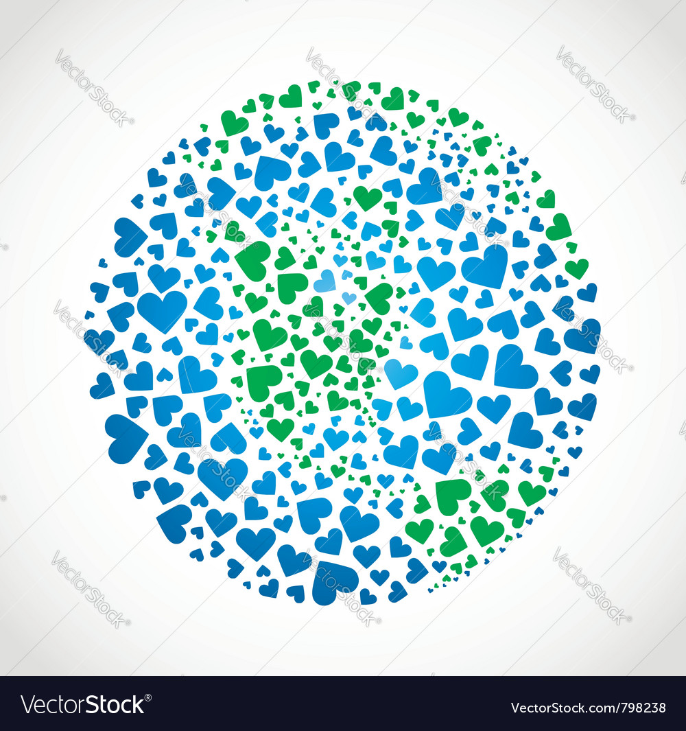 Earth of hearts vector | Price: 1 Credit (USD $1)