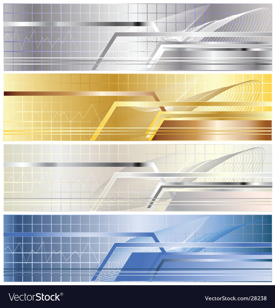 Metallic banner vector | Price: 1 Credit (USD $1)