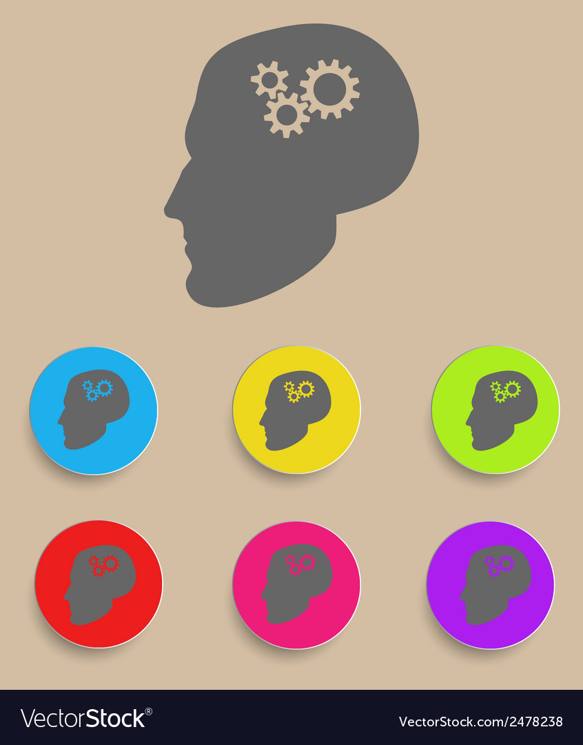 Profile and gear vector | Price: 1 Credit (USD $1)