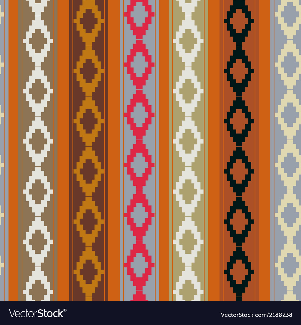 Seamless ethnic texture vector | Price: 1 Credit (USD $1)