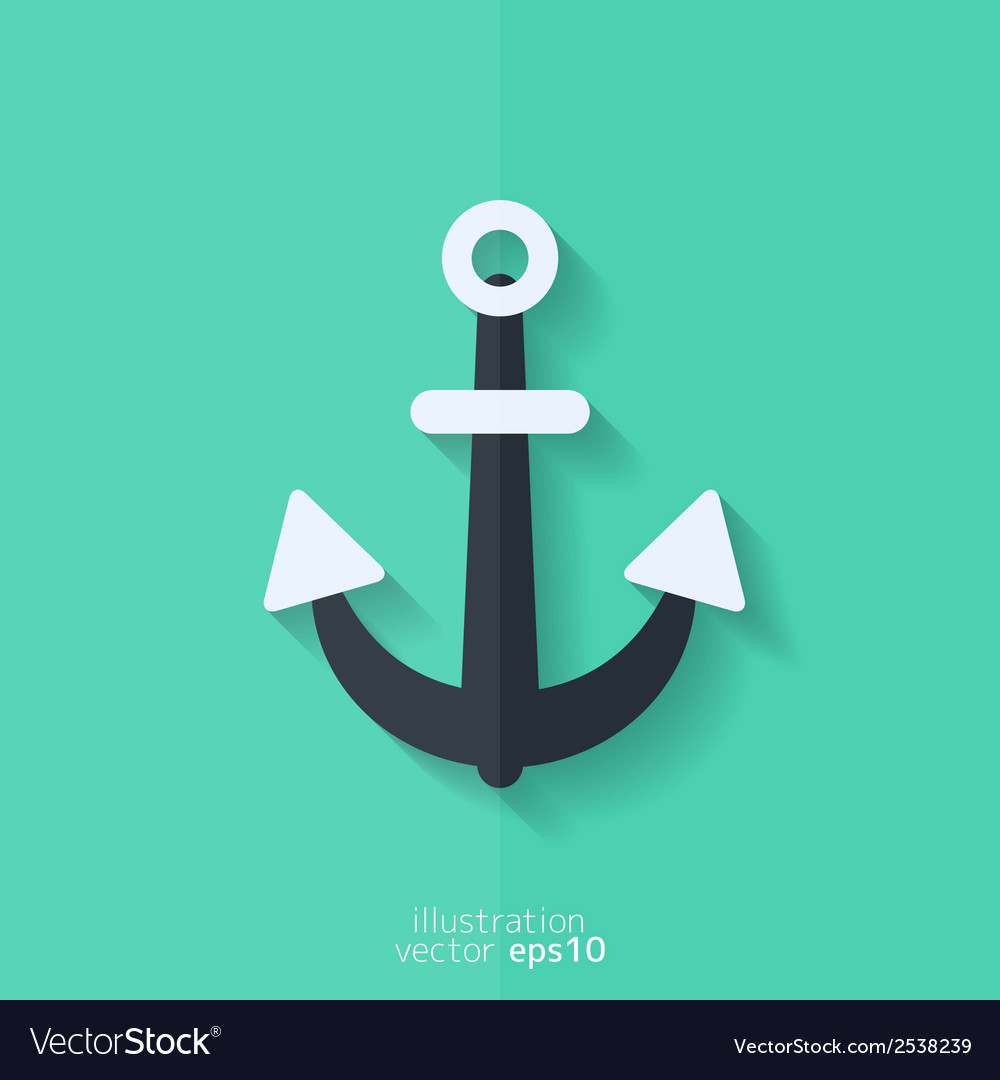 Anchor web icon vector | Price: 1 Credit (USD $1)