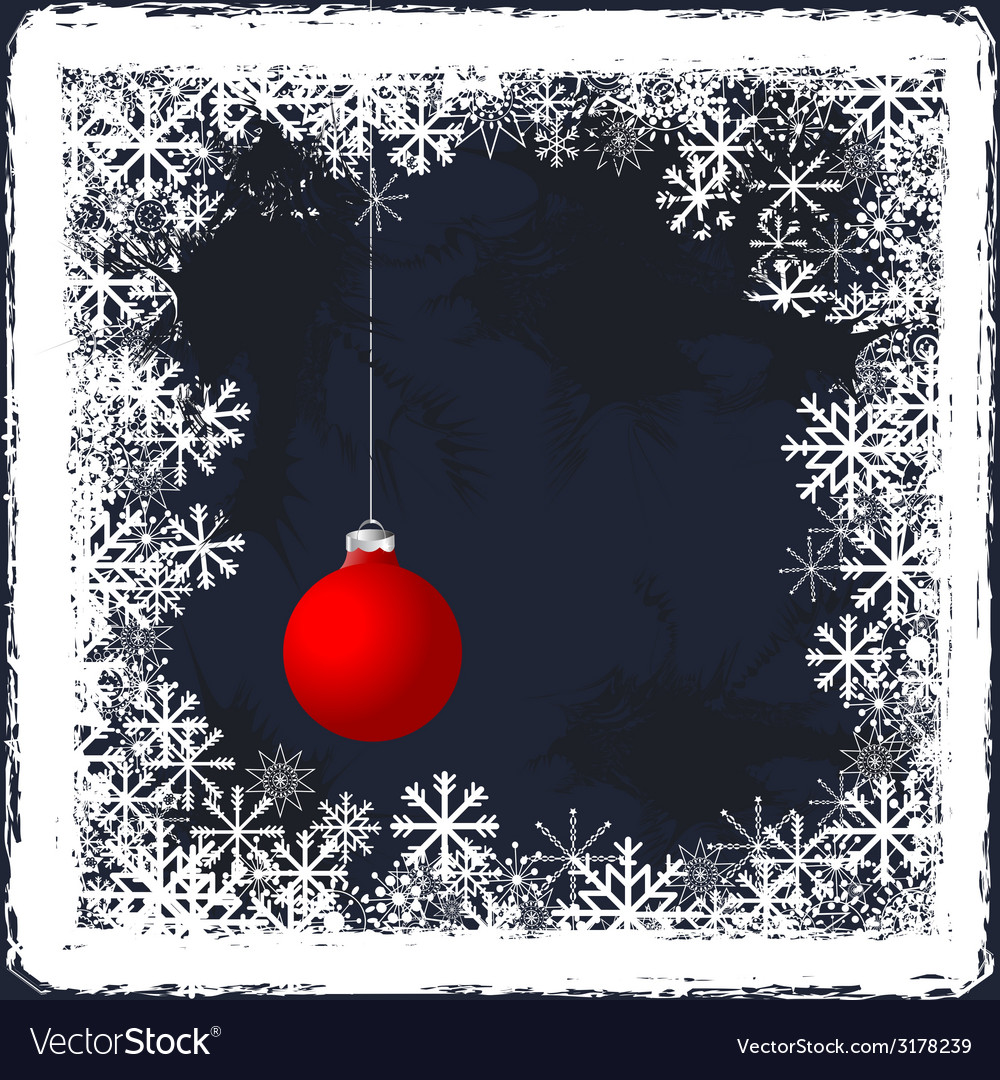 Christmas grunge background with frozen windows vector | Price: 1 Credit (USD $1)