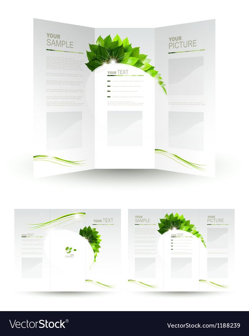 Eco brochure vector | Price: 1 Credit (USD $1)