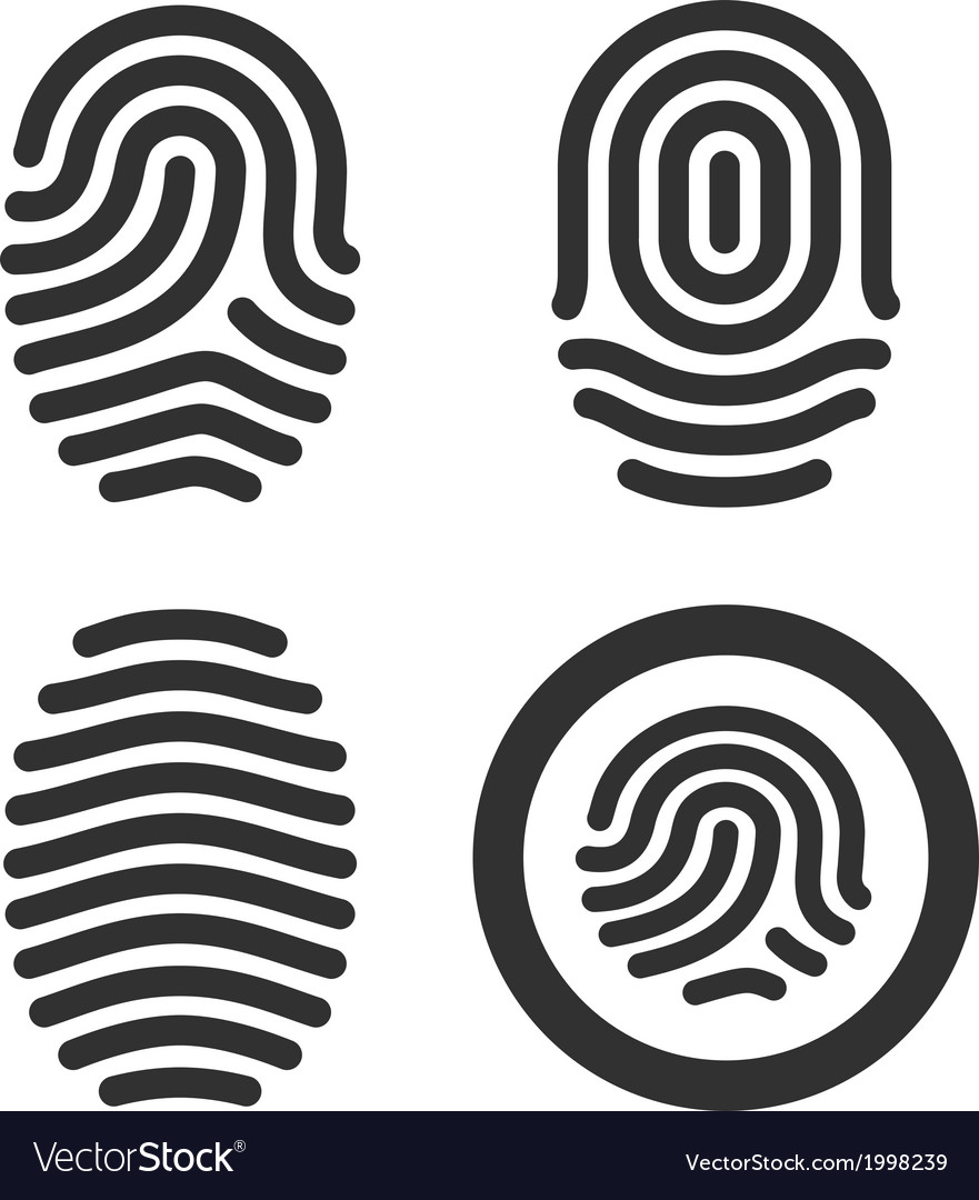 Fingerprint icons set vector | Price: 1 Credit (USD $1)