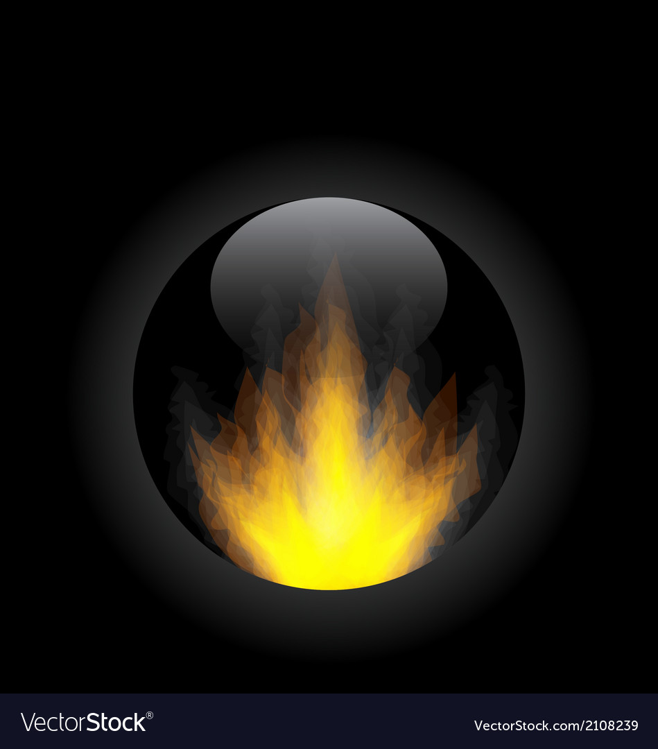 Fire flame in circle frame vector | Price: 1 Credit (USD $1)