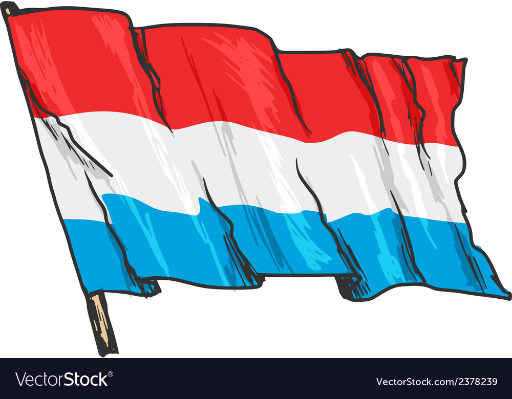 Flag of luxembourg vector | Price: 3 Credit (USD $3)