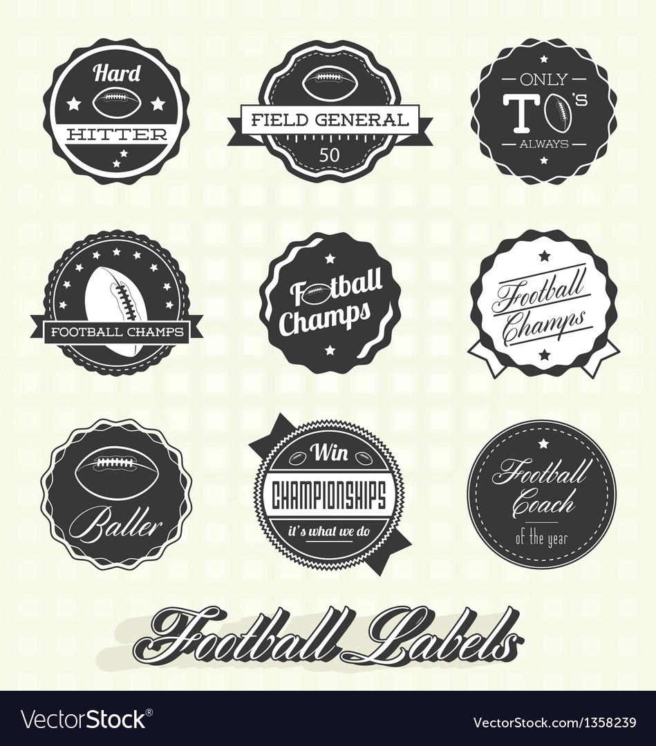 Football champion labels and icons vector | Price: 1 Credit (USD $1)