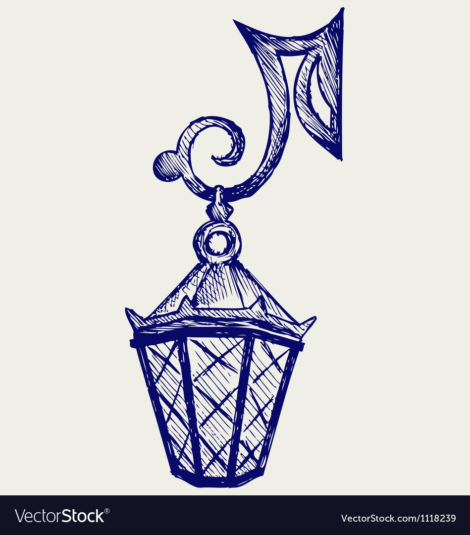 Lantern from the forged metal vector   Price: 1 Credit (USD $1)