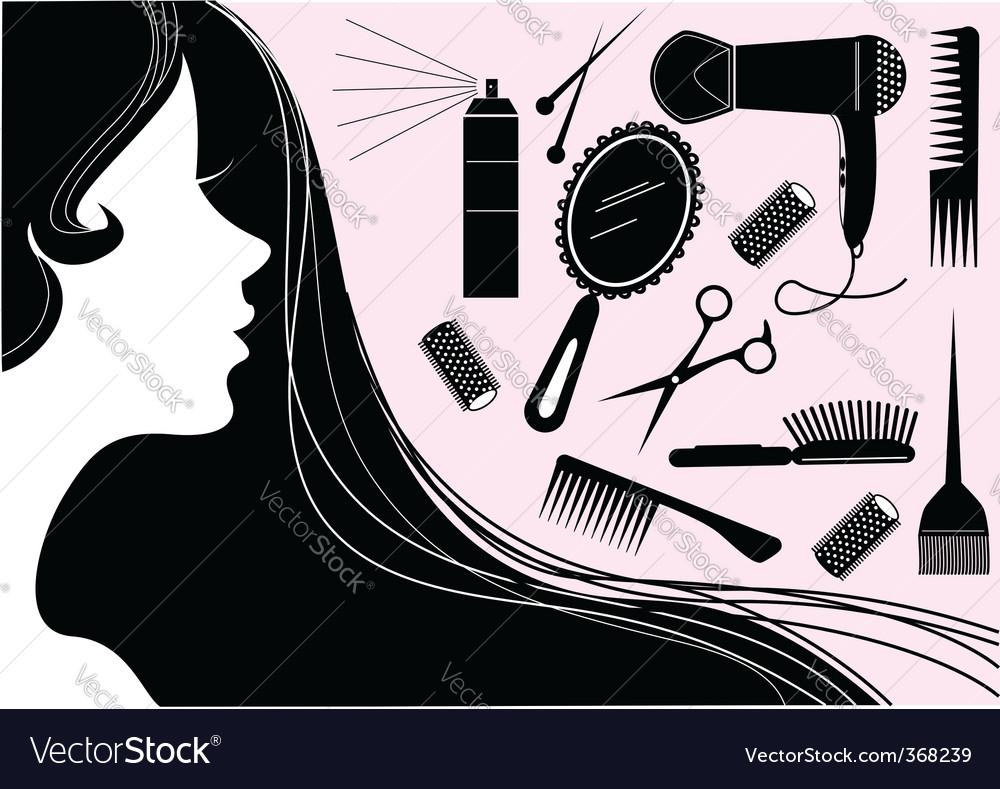Make up hair vector | Price: 1 Credit (USD $1)