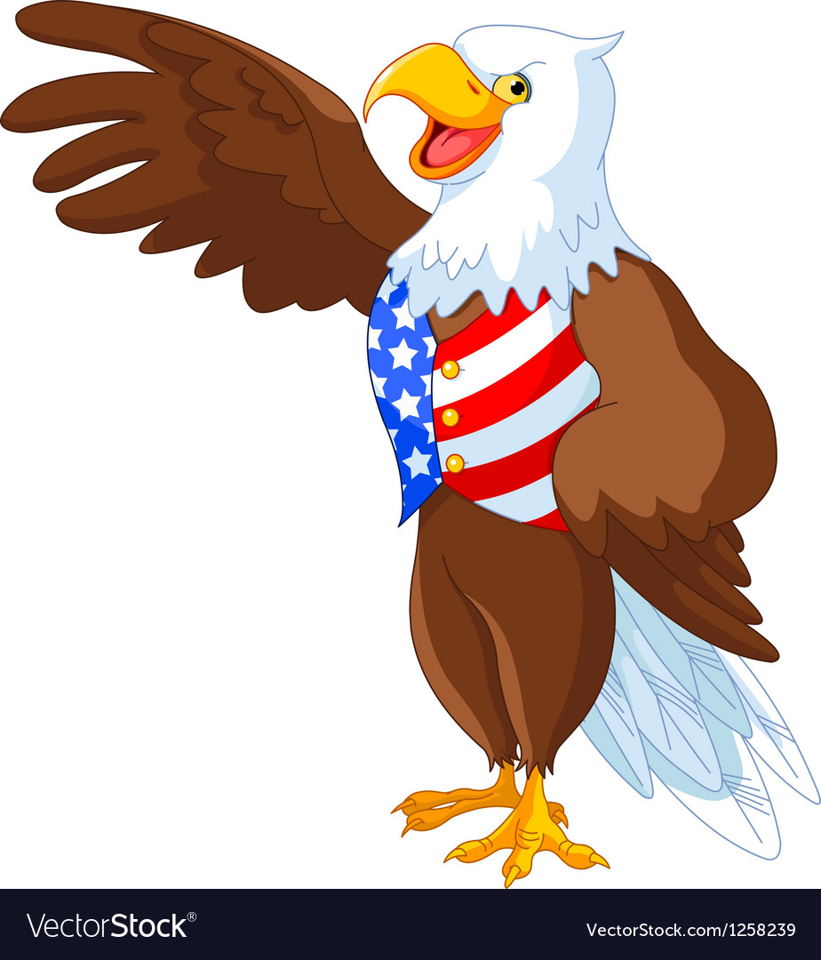 Patriotic american eagle vector | Price: 3 Credit (USD $3)