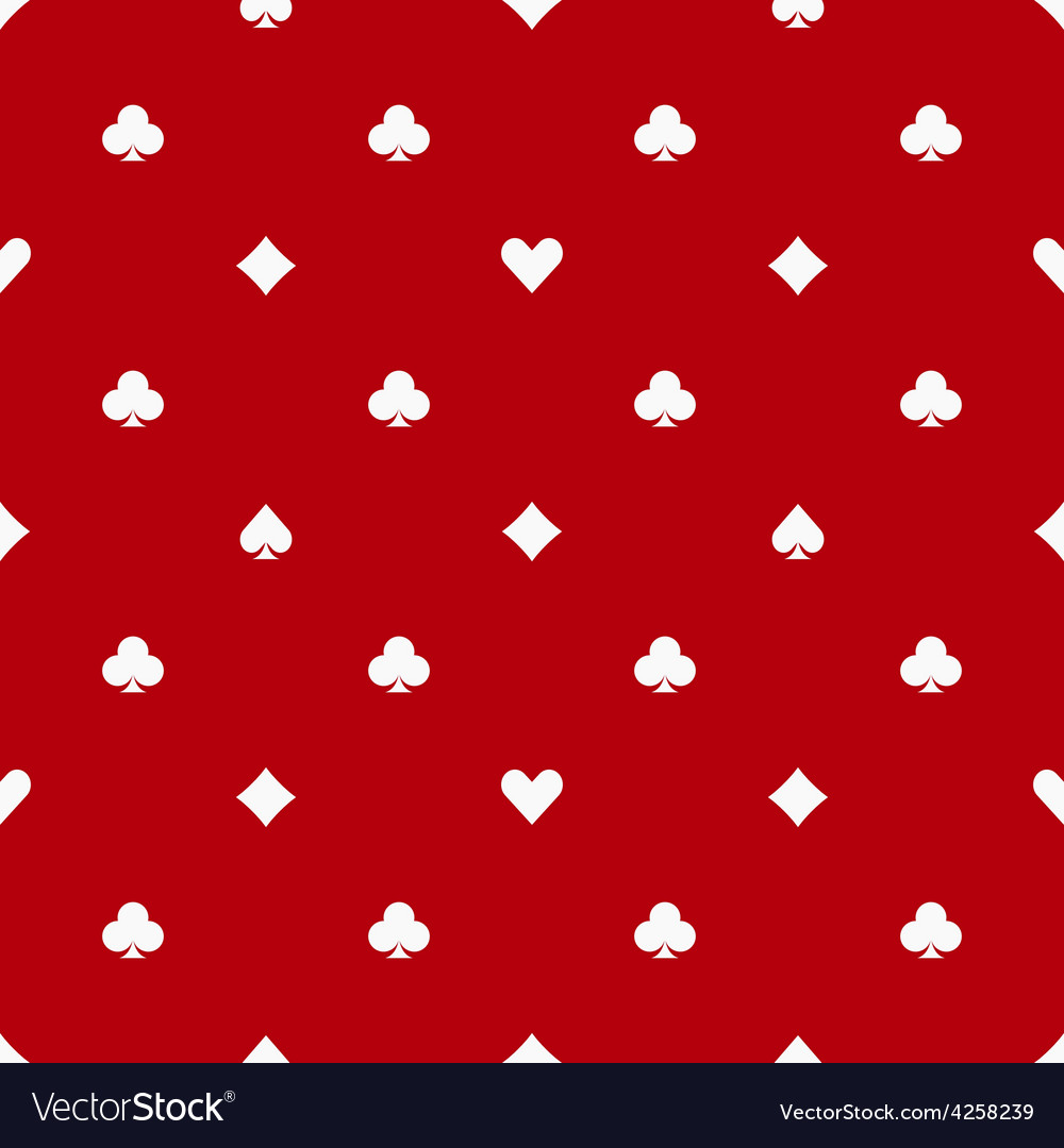 Poker red seamless pattern vector | Price: 1 Credit (USD $1)