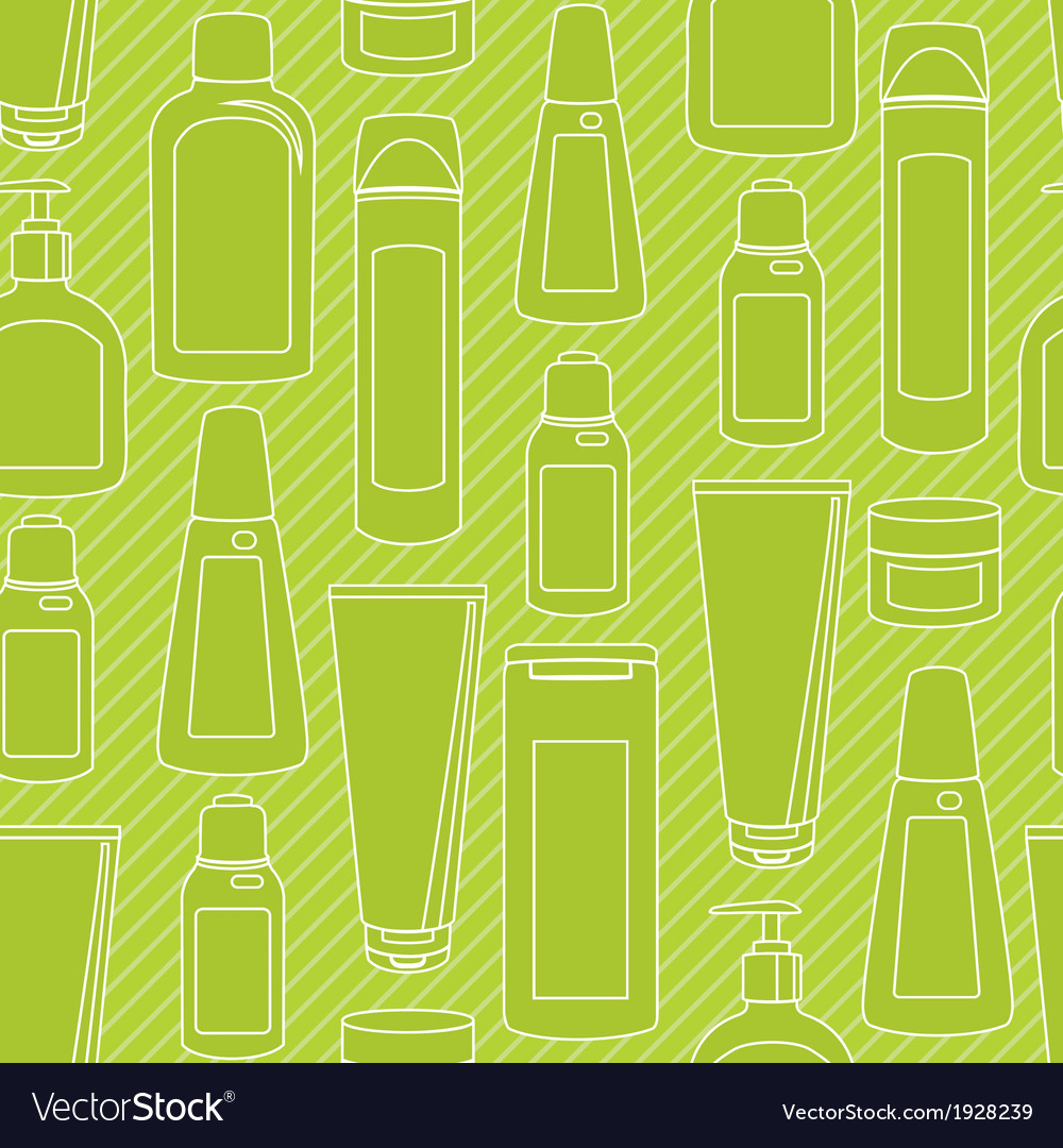 Seamless pattern with cosmetics bottles vector | Price: 1 Credit (USD $1)
