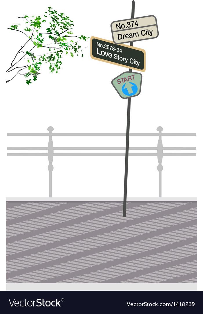 Street sign post vector | Price: 1 Credit (USD $1)