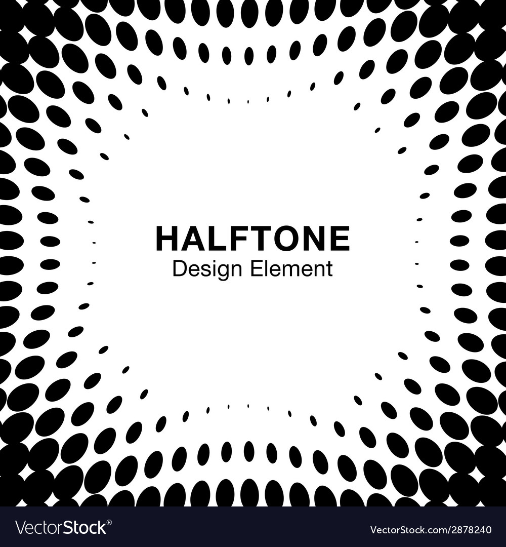 Abstract halftone design element vector | Price: 1 Credit (USD $1)