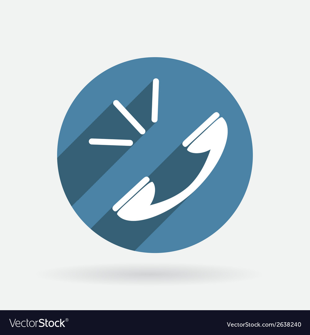 Call circle blue icon with shadow vector | Price: 1 Credit (USD $1)