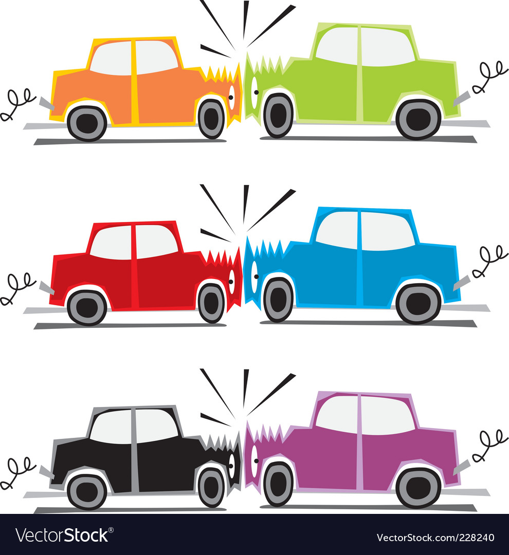 Car crash vector | Price: 3 Credit (USD $3)