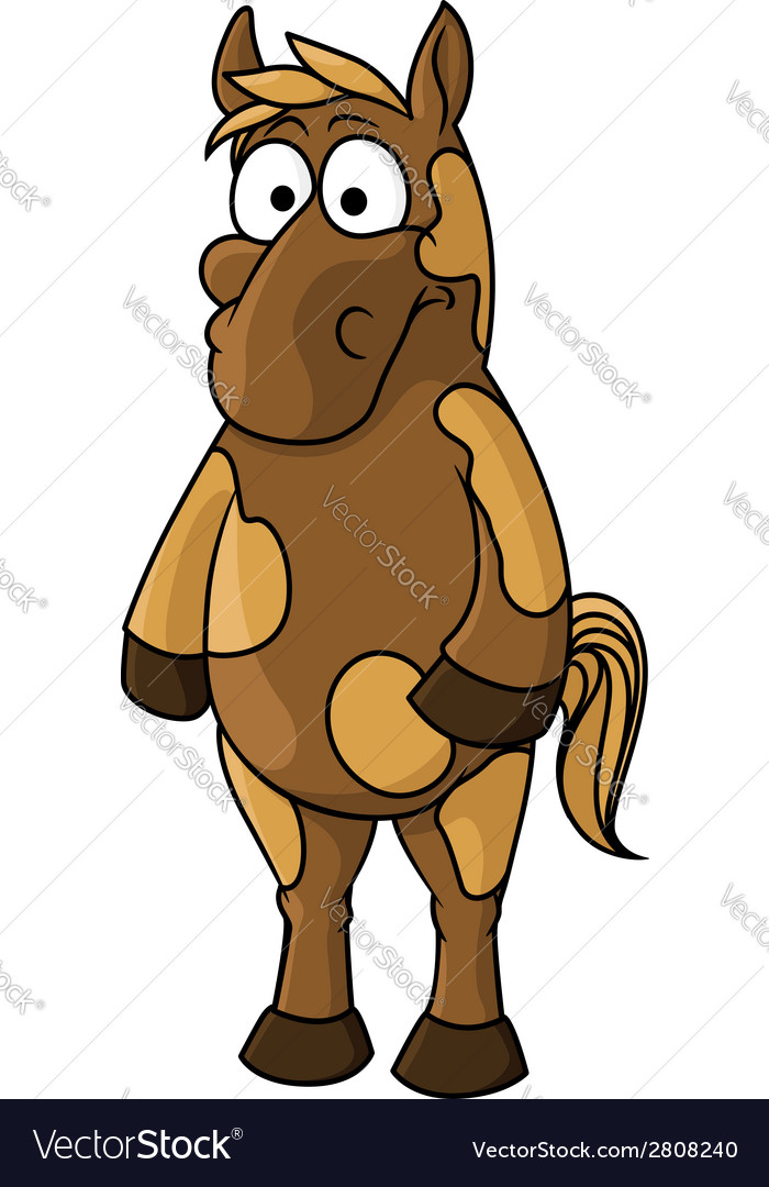 Cartoon horse character vector | Price: 1 Credit (USD $1)