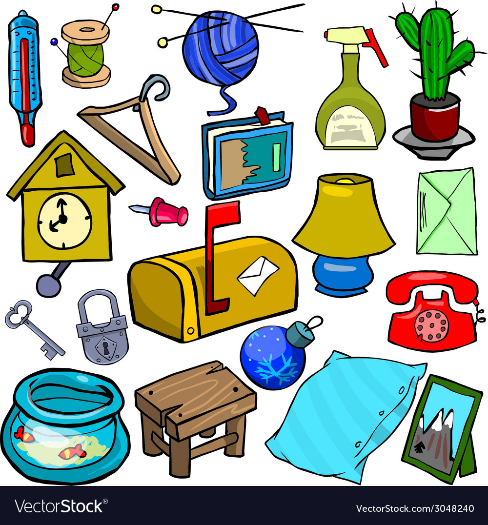 Cartoonish objects vol 1 vector | Price: 1 Credit (USD $1)
