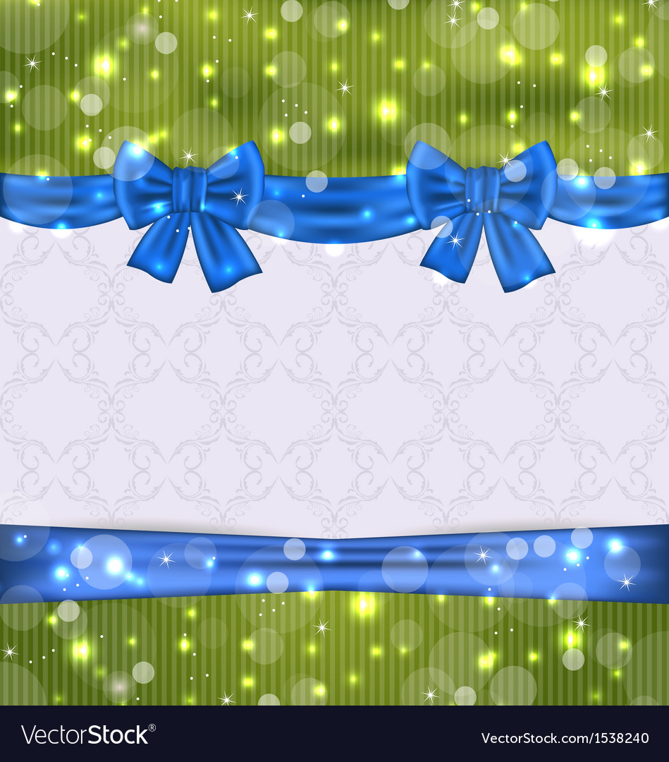 Christmas background with ribbon bows vector | Price: 1 Credit (USD $1)