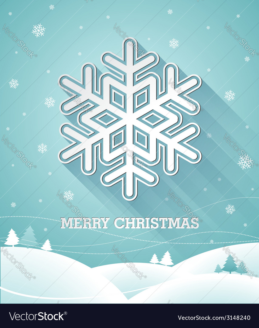 Christmas design with 3d snowflake vector | Price: 1 Credit (USD $1)