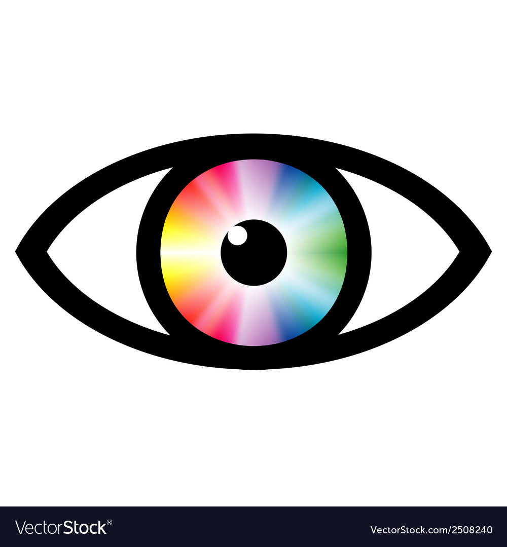 Color swatch eye vector | Price: 1 Credit (USD $1)