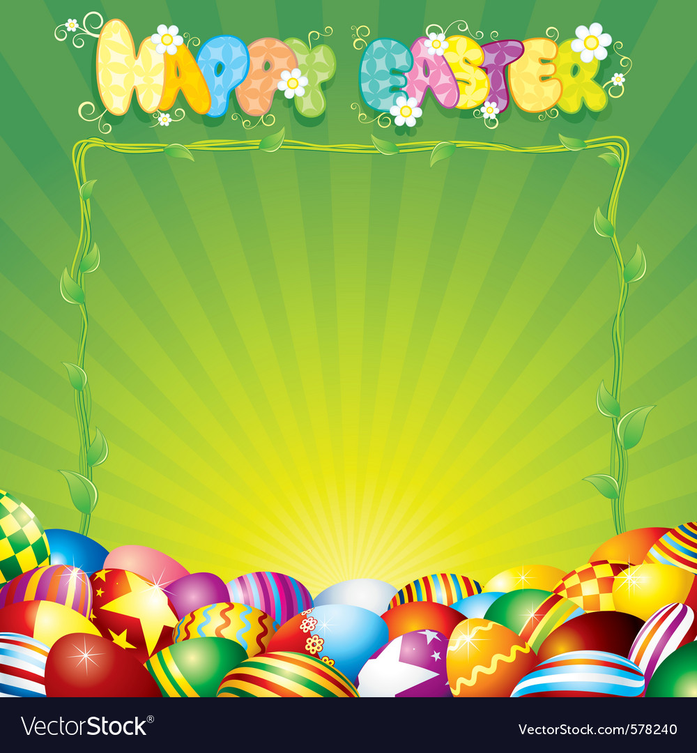 Easter background for your text or design vector | Price: 1 Credit (USD $1)